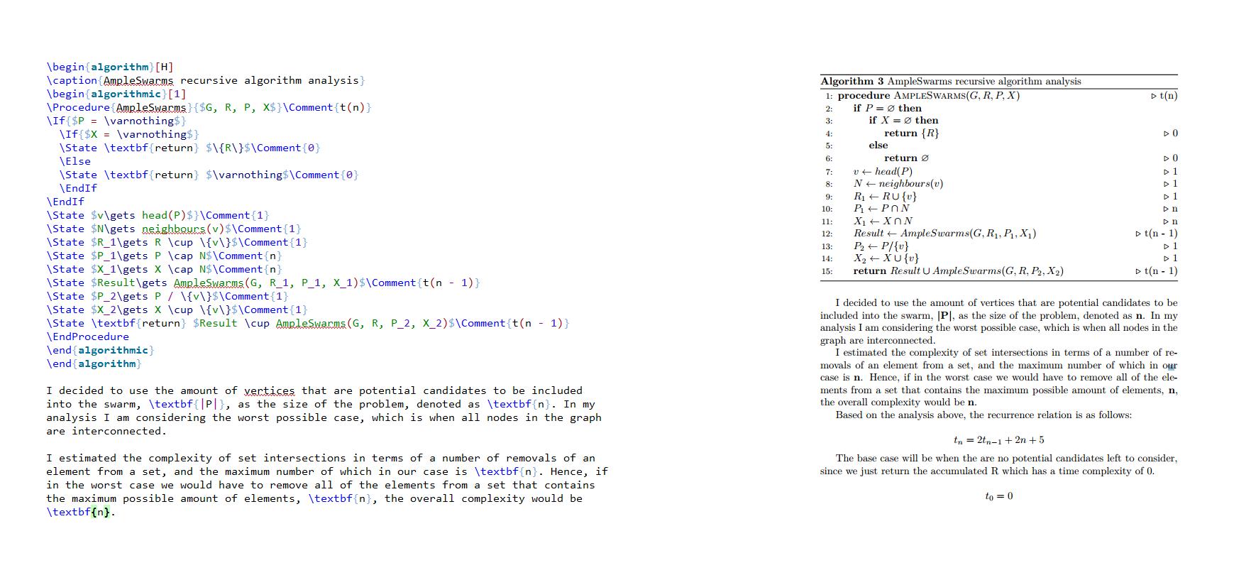 COMP104P Algorithm Complexity Coursework