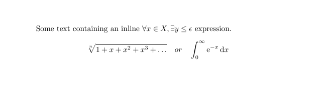 Mathematical expressions in LaTeX