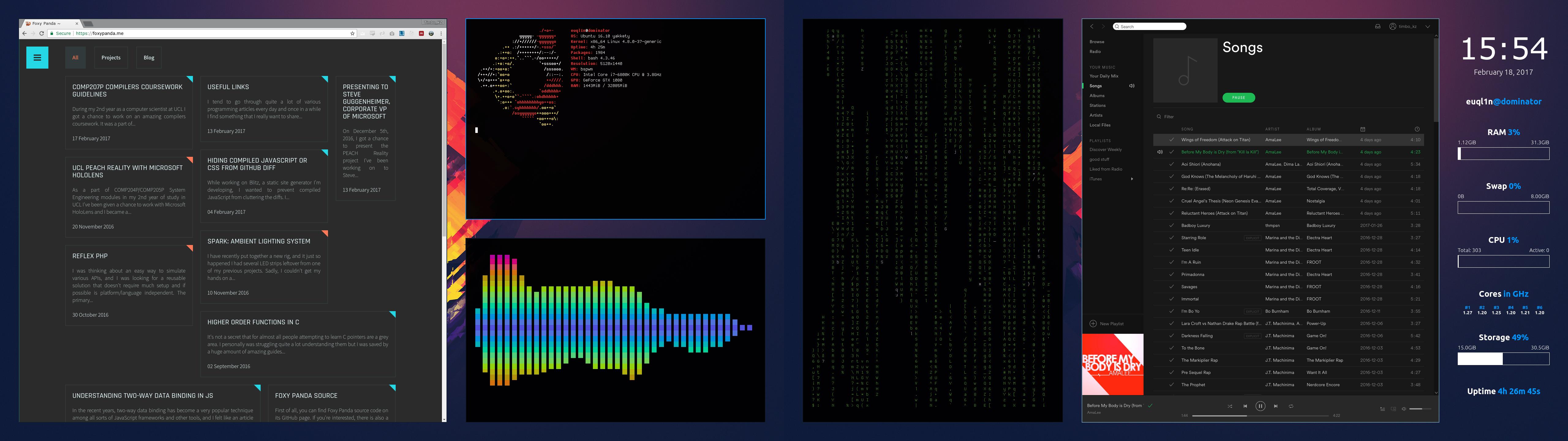 Tim's Ubuntu 16.10 setup using bspwm